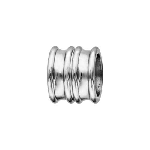 Charms bracelet homme acier forme double anneau