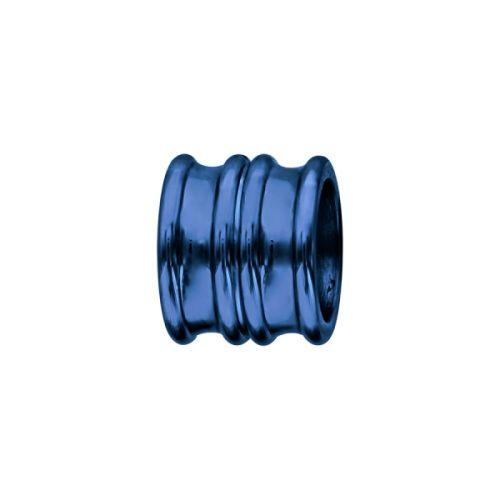 Charms bracelet homme acier forme double anneau bleu