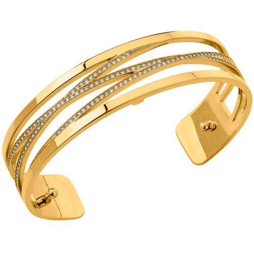 Bracelet manchette Les Georgettes précieuses motif liens finition Or jaune small