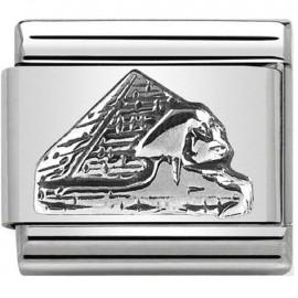 Maillon Nomination classic argent pyramide