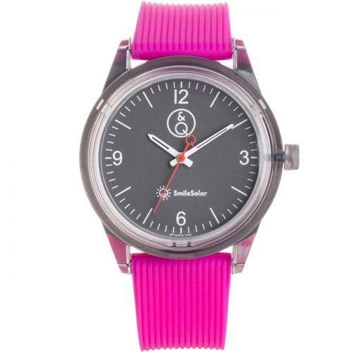 Montre femme Q&Q Solaire bracelet rose