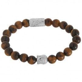 Bracelet homme Lauren Steven oeil de tigre