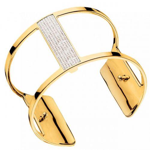 Bracelet manchette Les Georgettes précieuses finition Or jaune large et oxydes