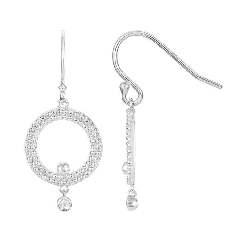 Boucles d'oreilles Argent et Diamant La Garçonne