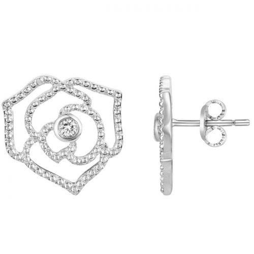 Boucles d'oreilles Argent et Diamant roses La Garçonne