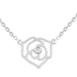 Collier Argent et Diamant La Garçonne