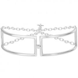 Bracelet Argent et Diamant la Garçonne semi-rigide