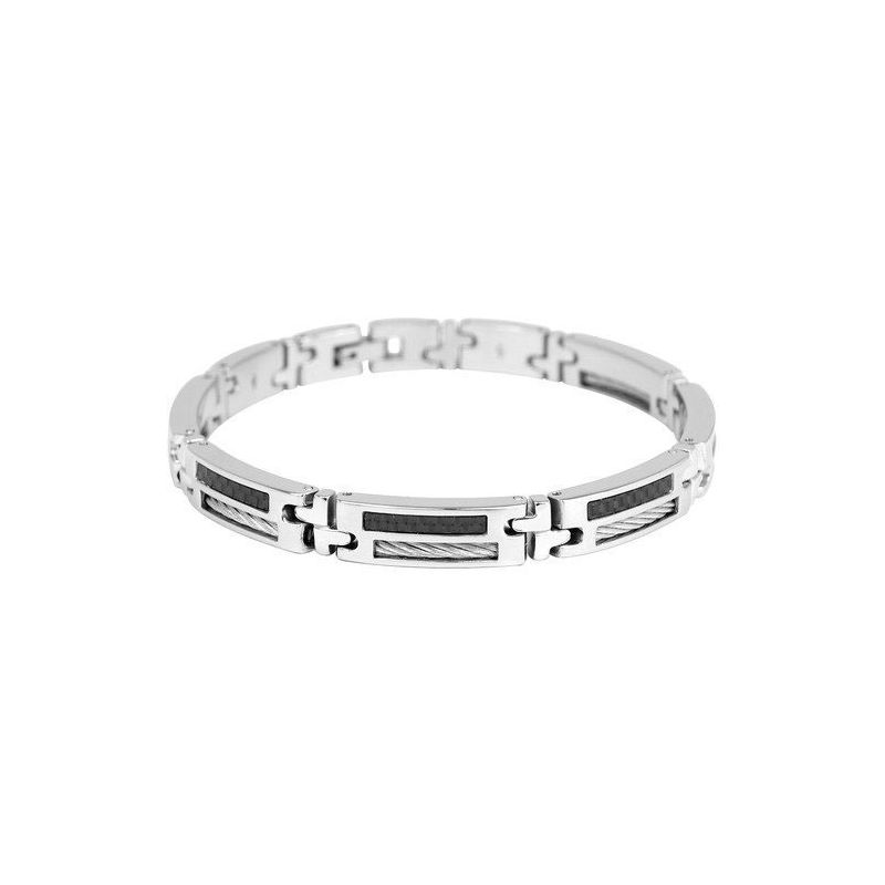 Bracelet homme Phebus acier et carbone