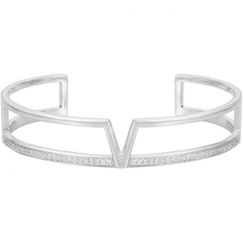Bracelet manchette Argent et oxydes de zirconium Phebus and Co