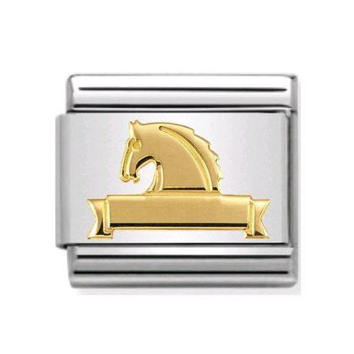 Maillon Nomination classic symbole équitation en Or