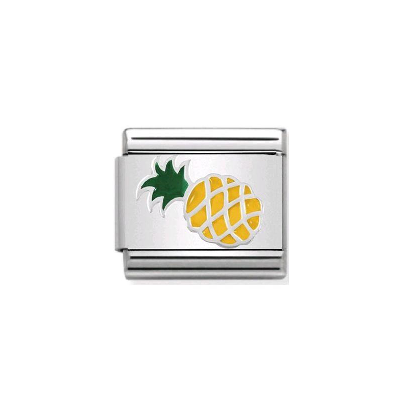 Maillon Nomination classic ananas en Argent