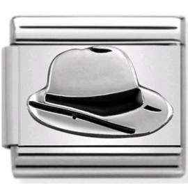 Maillon Nomination classic chapeau Panama en Argent