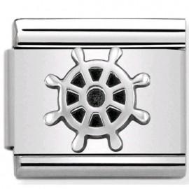 Maillon Nomination classic gouvernail de bateau en Argent
