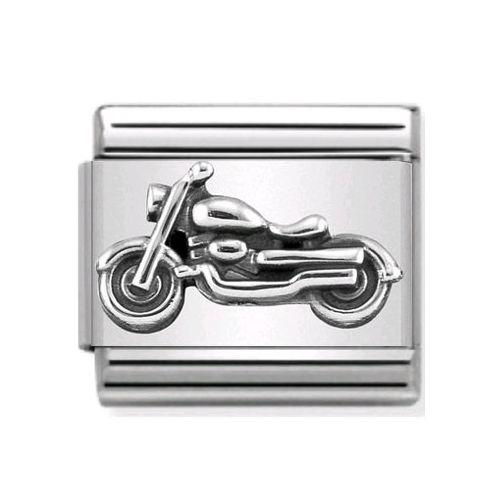 Maillon Nomination classic moto en Argent