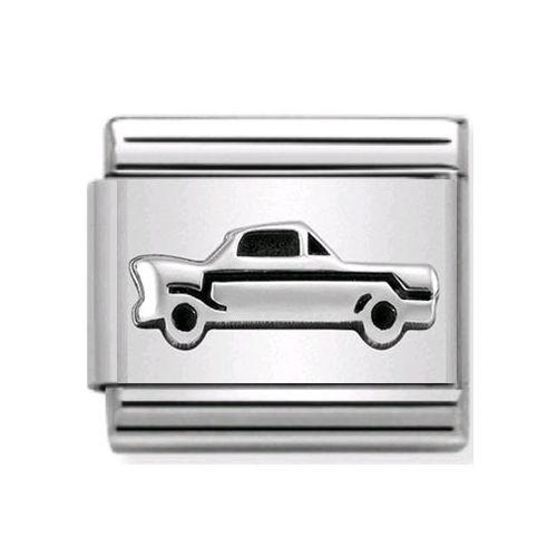 Maillon Nomination classic voiture en Argent