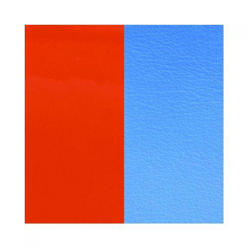 Vinyle de boucles d'oreilles reversible les Georgettes orange vernis/bleuet