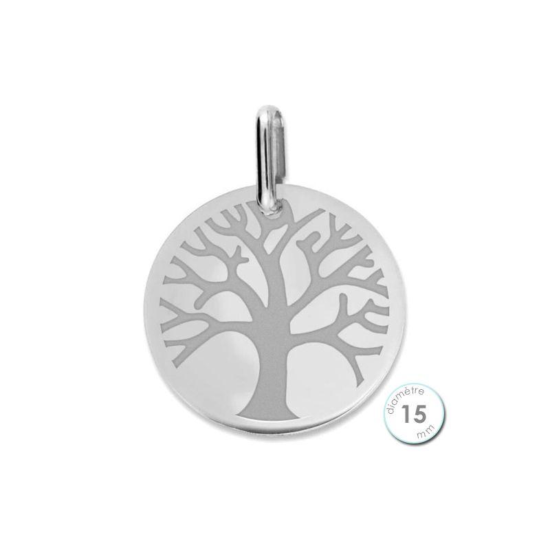 Pendentif Or blanc arbre de vie