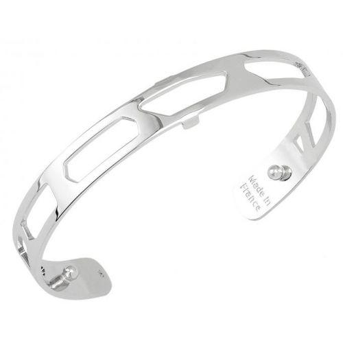 Bracelet manchette Les Georgettes motif girafe 8 mm finition Argent
