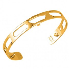 Bracelet manchette Les Georgettes motif girafe 8 mm finition Or jaune