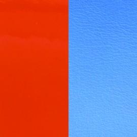 Cuir reversible les Georgettes orange vernis/bleuet