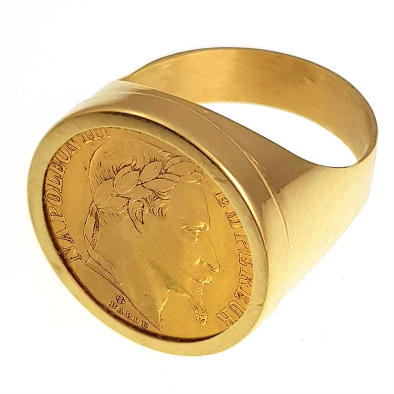 bague or chevaliere homme
