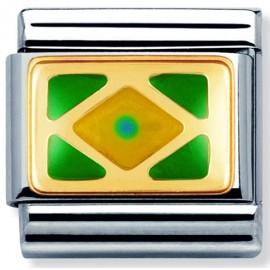 Maillon Nomination classic drapeau Brésil