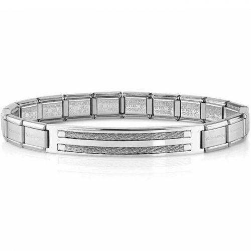 Bracelet Nomination acier et cable