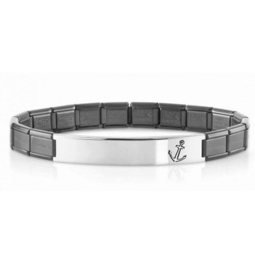 Bracelet Nomination acier satiné avec motif ancre
