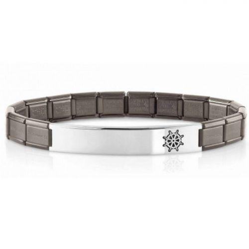 Bracelet Nomination acier satiné avec motif gouvernail