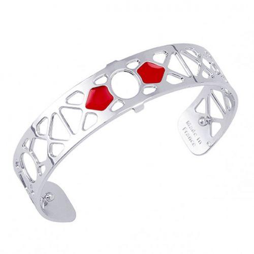 Bracelet manchette Les Georgettes motif Bora Bora finition Argent small