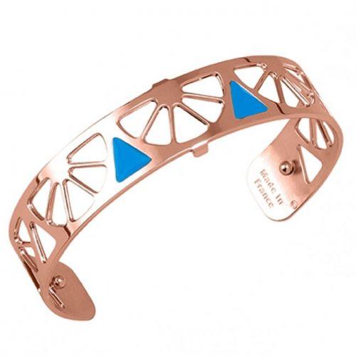 Bracelet manchette Les Georgettes motif Sunrise finition Or rose small