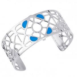 Bracelet manchette Les Georgettes motif Bora Bora finition Argent medium