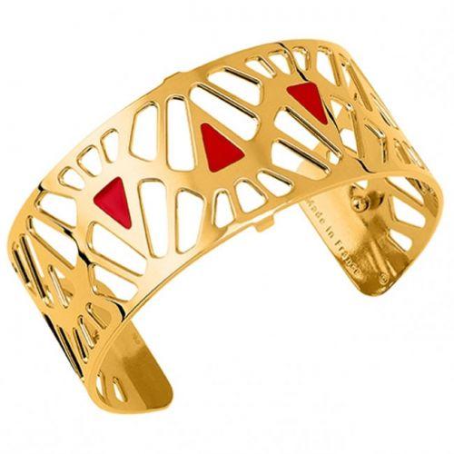 Bracelet manchette Les Georgettes motif Mai Thai finition Or jaune medium