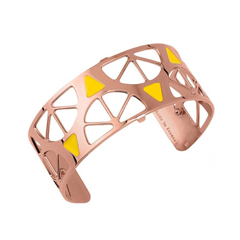 Bracelet manchette Les Georgettes motif Sunrise finition Or rose medium