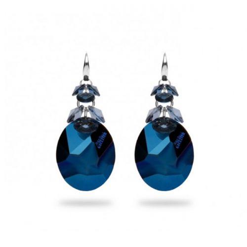 Boucles d'oreilles Spark Jean Paul Gaultier Argent et cristaux de Swarovski