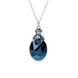 Collier Spark Jean Paul Gaultier Argent et cristaux de Swarovski