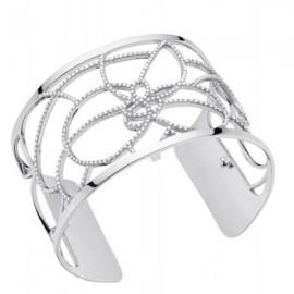 Bracelet manchette Les Georgettes précieuses parallèles finition Argent large et oxydes