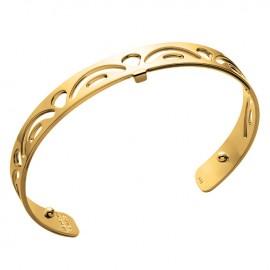 Bracelet manchette Les Georgettes motif poissons 8 mm finition Or jaune