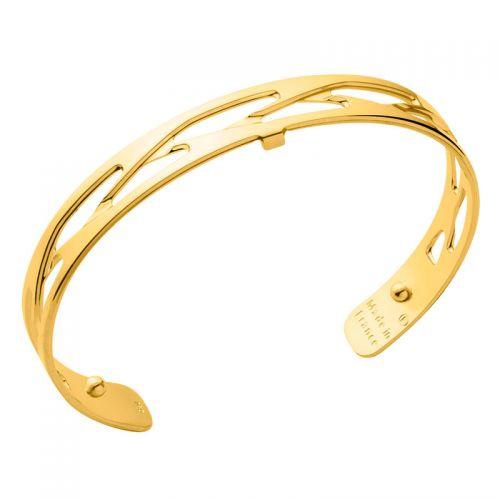 Bracelet manchette Les Georgettes motif tresse 8 mm finition Or jaune