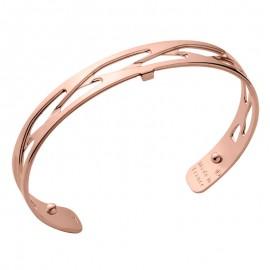 Bracelet manchette Les Georgettes motif tresse 8 mm finition Or rose