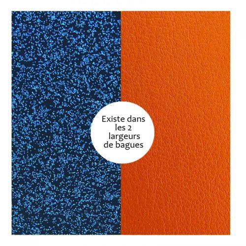Vinyle de bague reversible les Georgettes glitter bleu/abricot