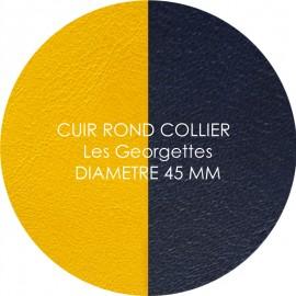 Cuir reversible les Georgettes sun/marine pour collier diamètre 45 mm