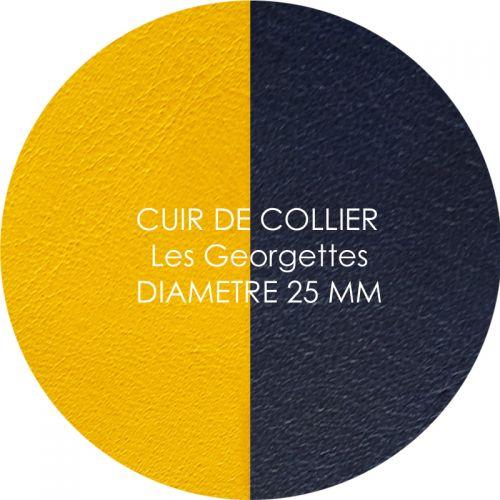 Cuir reversible les Georgettes sun/marine pour collier diamètre 25 mm