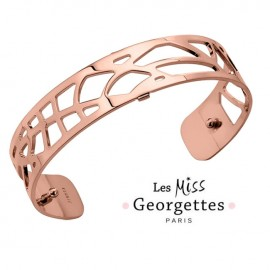 Bracelet manchette miss Les Georgettes motif fougères finition Or rose