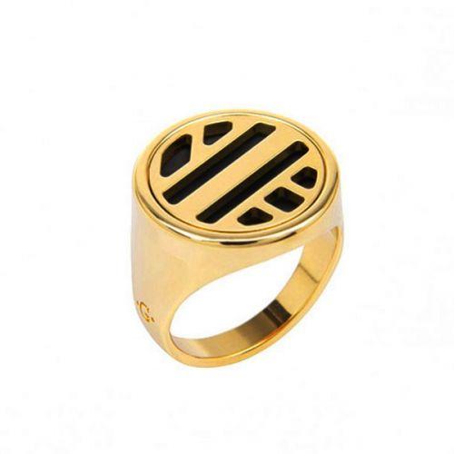 Bague chevalière Les Georgettes les Clipsables motif ruban finition Or jaune