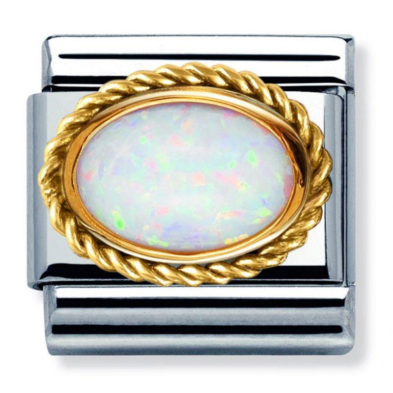 Maillon Nomination classic coeur opale en Or jaune
