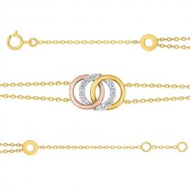 Bracelet 3 Ors et oxydes