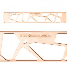 Bijou de sac Les Georgettes girafe dorée rose