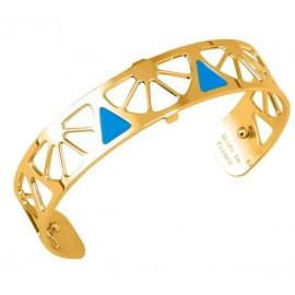 Bracelet manchette Les Georgettes motif bora bora finition Or jaune small