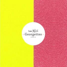 Cuir reversible miss les Georgettes jaune fluo/rose